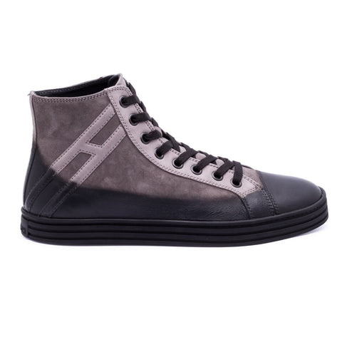 High Top Sneaker, Materialmix