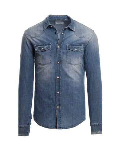 Casual-Hemd, Denim