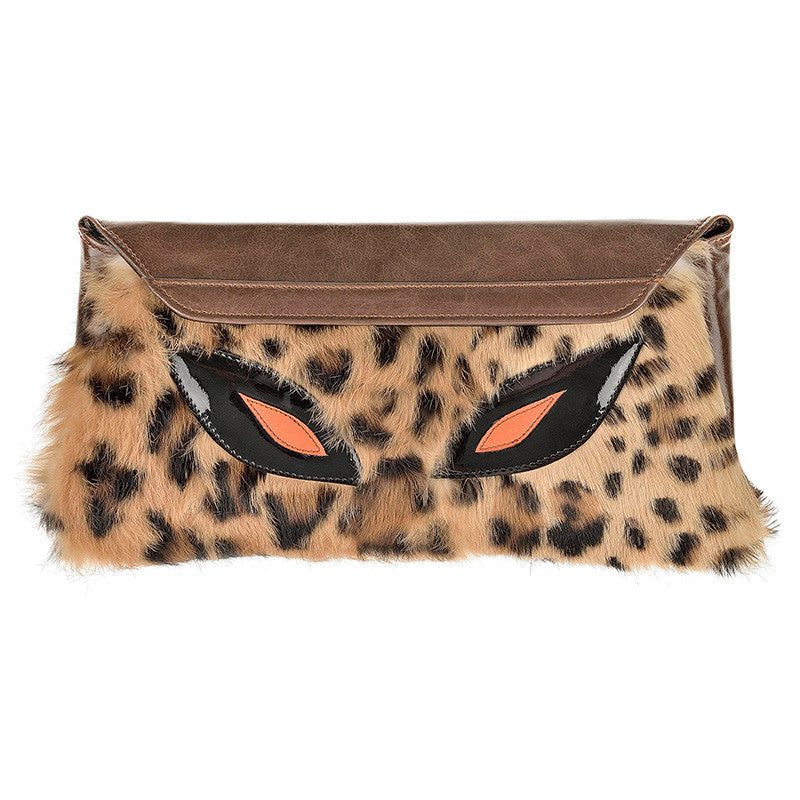 Clutch Bag Leopard Stamp