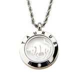 4-in-1 Dual Tone Stainless Steel Mix & Match Taurus Pendant & Chain