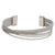 Silver Stainless Steel Overlapping Cable Cuff Kadaa