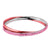 Pink & Silver Stainless Steel with Rose Crystal Double Bangle