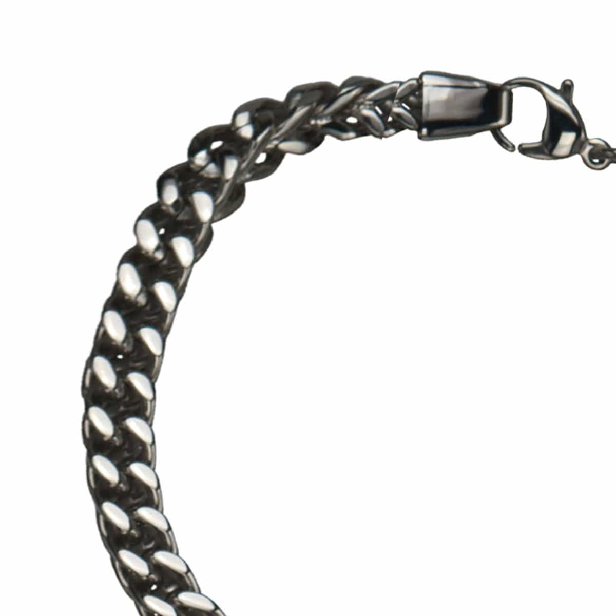 Silver Stainless Steel Classic Franco Chain Bracelet - Inox Jewelry India