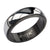 Black & Silver Stainless Steel Fancy Border Glossy Band