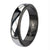 Black & Silver Stainless Steel Fancy Border Glossy Band Rings