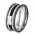 Black & Silver Stainless Steel Partial Exposed Double Cable Ring - Inox Jewelry India