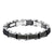Black & Silver Stainless Steel Reversible Block Bracelet - Inox Jewelry India