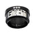 Black & Silver Stainless Steel Roberto Arichi Black CZ FIGHT Ring Rings