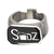 Black & Silver Stainless Steel SDZ Bottle Opener Ring Rings