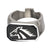 Black & Silver Stainless Steel Wild Stallion Bottle Opener Ring Rings
