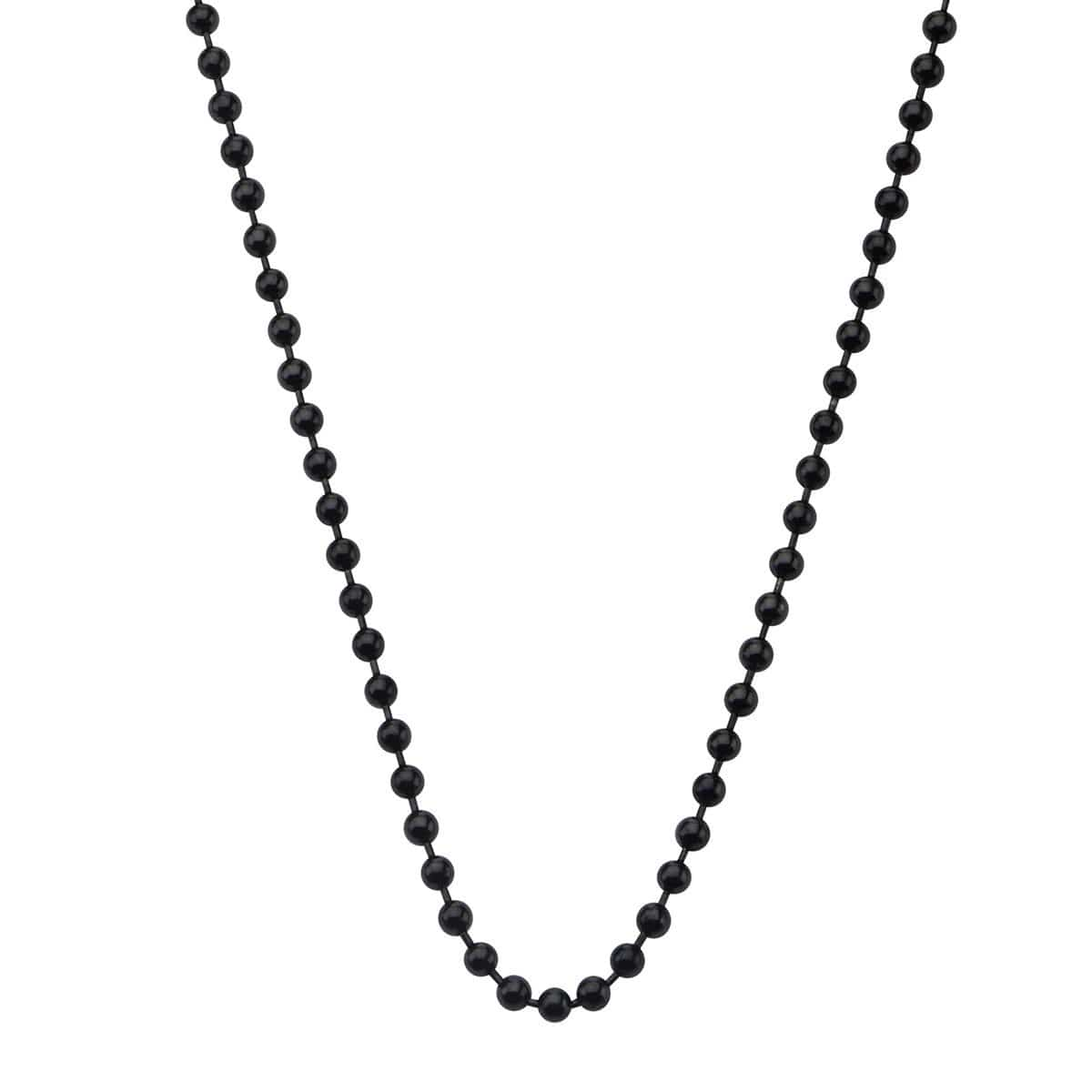 Black Stainless Steel 3mm Ball Chain with Lobster Claw-Closure Chains