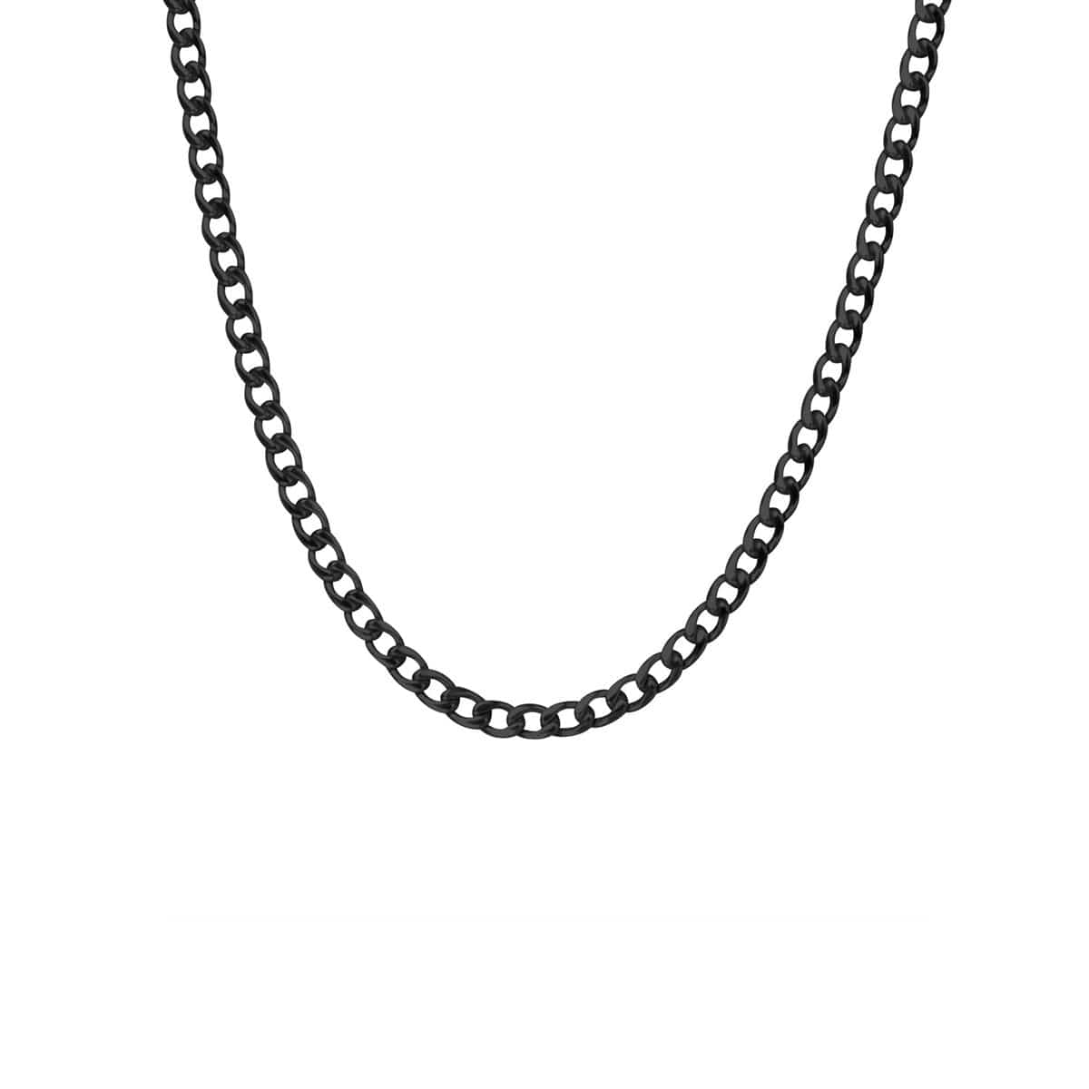 Black Stainless Steel 5 mm Round Curb Chain Chains