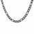 Black Stainless Steel 6mm Figaro Classic Chain Chains