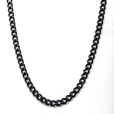 Black Stainless Steel 8mm Diamond Cut Design Curb Chain Chains