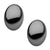 Black Stainless Steel Medium Oval Dome Studs Earrings