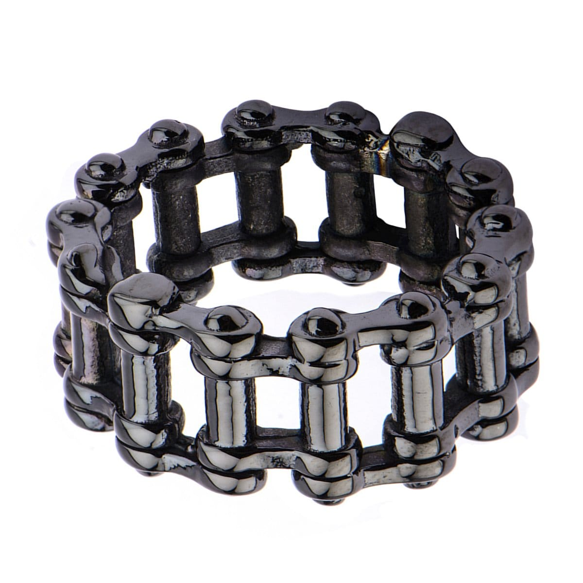 Black Stainless Steel Motorcycle Chain Ring Rings