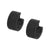 Black Stainless Steel Thick Huggies Earrings