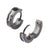 BLK STL IP HUGGIE EARRINGS