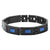 Blue & Black Stainless Steel Bold Rectangle Link Bracelet Bracelets