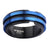 Blue & Black Stainless Steel Double Layer Banded Ring - Inox Jewelry India