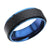 Blue Stainless Steel Black Solid Carbon Fiber Band Rings