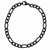 Black Stainless Steel 5.6mm Figaro Chain Bracelet