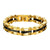 Black & Gold Stainless Steel Macho Link Bracelet - Inox Jewelry India