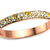 Rose Gold Stainless Steel Vogue Pave-Set Canary Crystal Bangle - Inox Jewelry India
