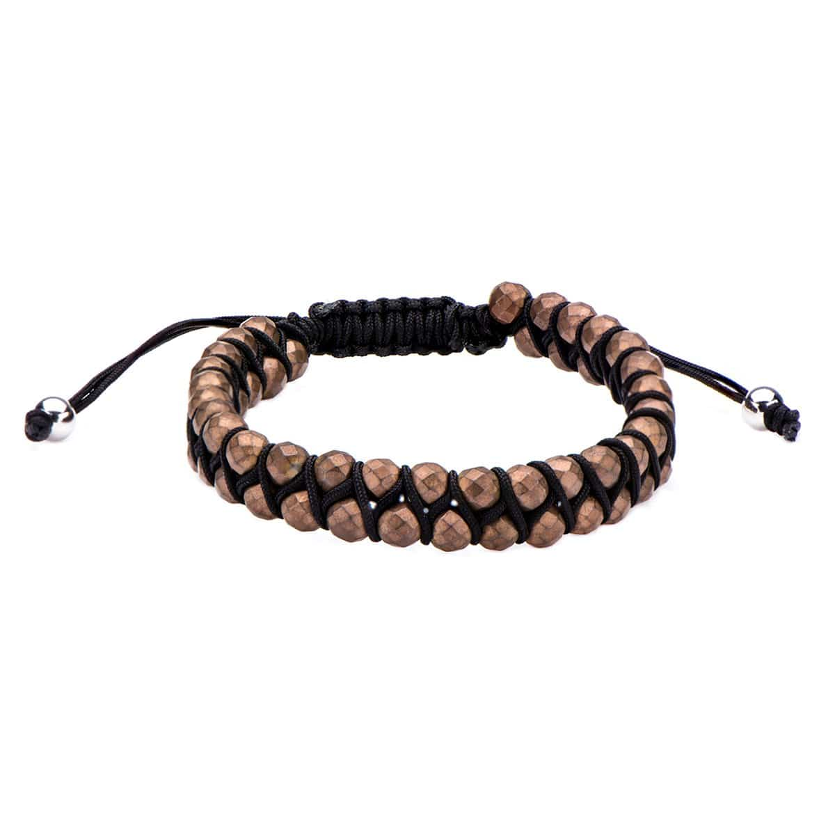 Brown Hematite Bead Adjustable Bracelet