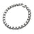 Silver Stainless Steel 6.5mm Hammered Bold Box Chain Bracelet
