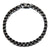 Black & Silver Stainless Steel 5.5mm Round Box Chain Bracelet