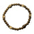 Gold Antique Brass Block with Gold Hematite Bead Expandable Bracelet