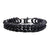 Black Stainless Steel Matte Finish New England Cuban Chain Bracelet