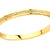 Gold Stainless Steel Channel Set CZ Bangle