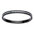 Black Stainless Steel Channel Set CZ Bangle