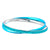 Turquoise & Silver Stainless Steel with Blue Crystal Double Bangle