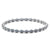 Silver Stainless Steel Polished Spring Stretch Bracelet