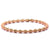 Rose Gold Stainless Steel Polished Spring Stretch Bracelet