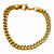 Gold Stainless Steel Classic Franco Chain Bracelet - Inox Jewelry India