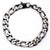 Black & Silver Stainless Steel Figaro Chain Denim Fade Bracelet