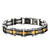 Black & Gold Stainless Steel Exposed Mesh Reversible Bracelet
