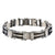 Black & Silver Stainless Steel Double-Sided Polished Reversible Bracelet
