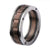 Brown, Black & Silver Stainless Steel Grooved Spinner Ring - Inox Jewelry India