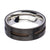 Brown, Black & Silver Stainless Steel Partial Exposed Cable Ring - Inox Jewelry India