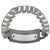 Dark Gray & Silver Stainless Steel on Large Gray Silicone Curb ID Tag Bracelet Bracelets