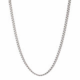 Darkened Silver Stainless Steel 5mm Flat Square Chain