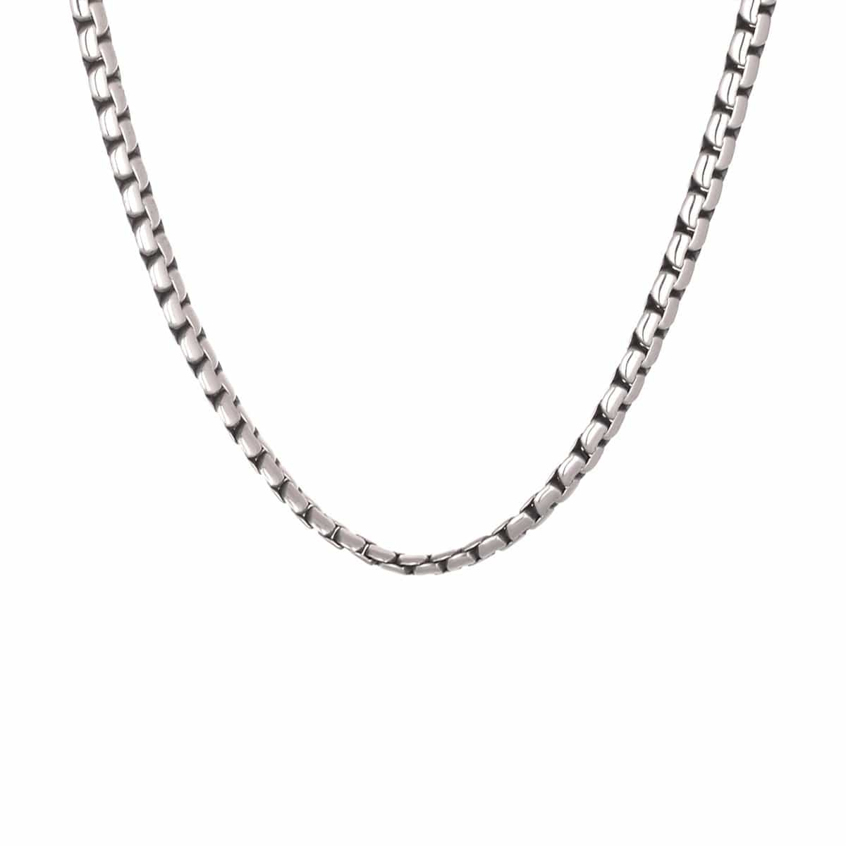 Darkened Silver Stainless Steel 5mm Flat Square Chain Chains
