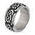 Darkened Silver Stainless Steel Celtic Pattern Ring - Inox Jewelry India