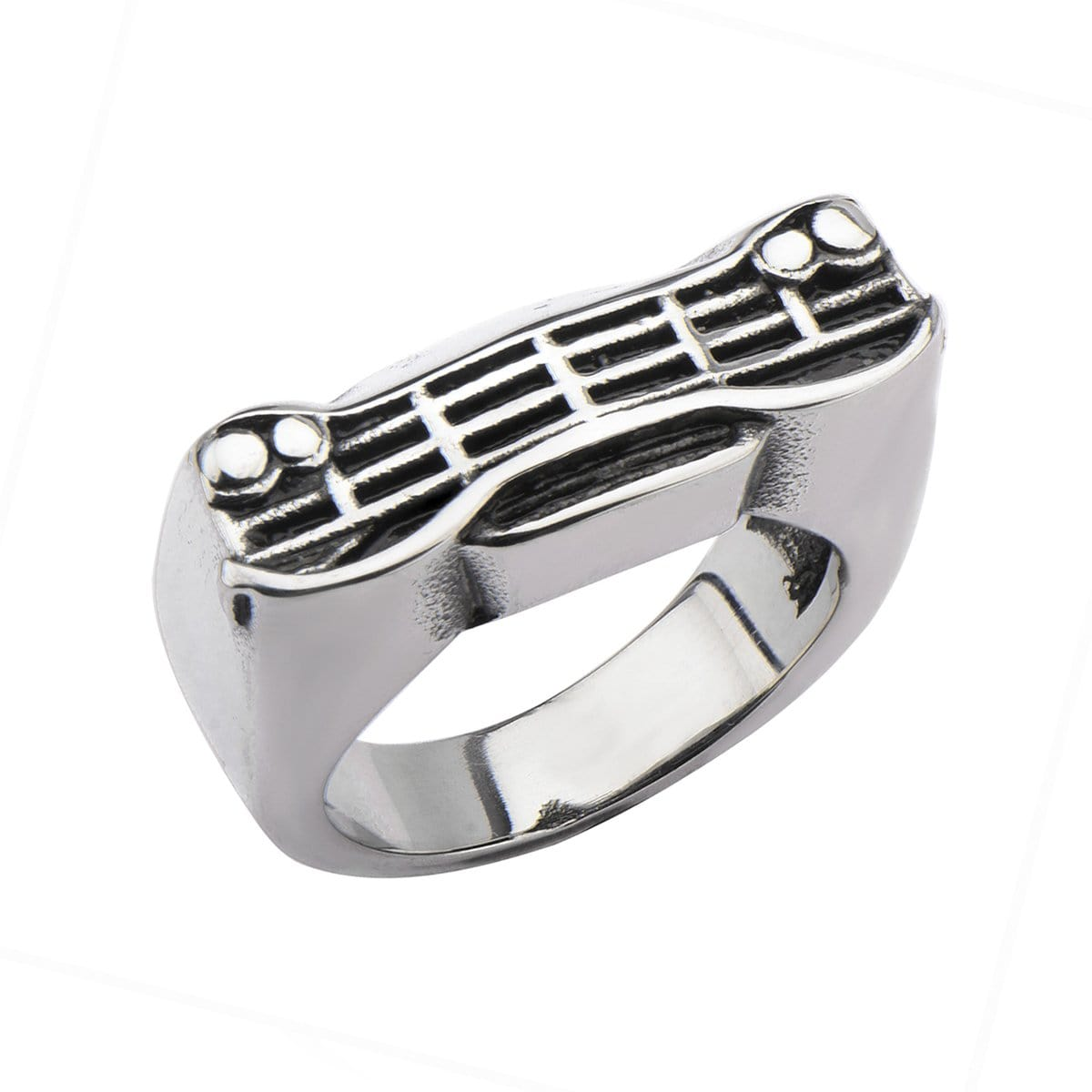 Darkened Silver Stainless Steel Classic Car Grille Ring