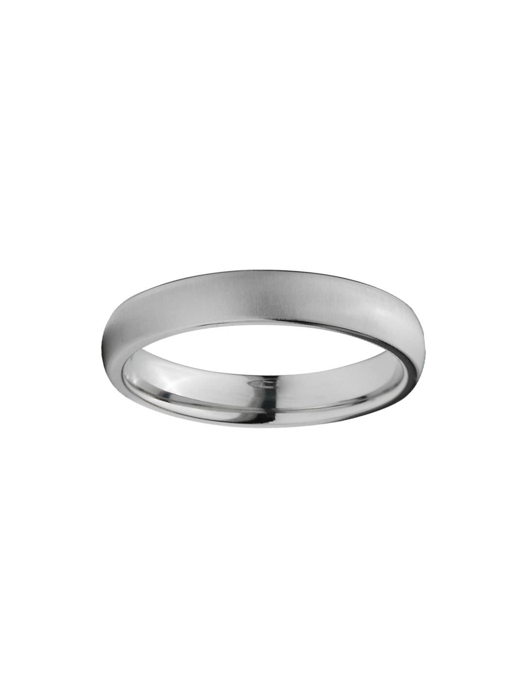 Silver Titanium Classic 4mm Matte Band Ring Rings